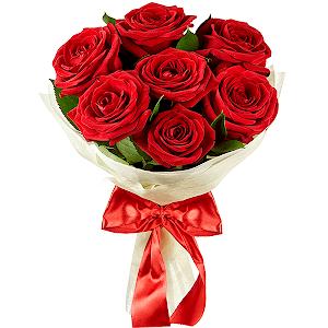 Букет из 7 красных роз